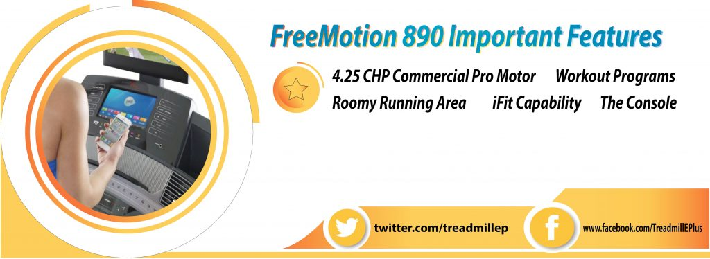 FreeMotion 890 Important Features