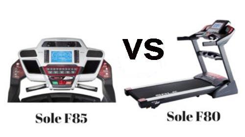 Sole F80 Treadmill VS F85 Treadmill