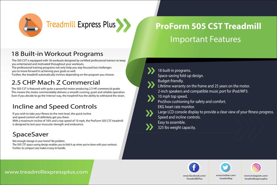 proform preformance 505 CST treadmill