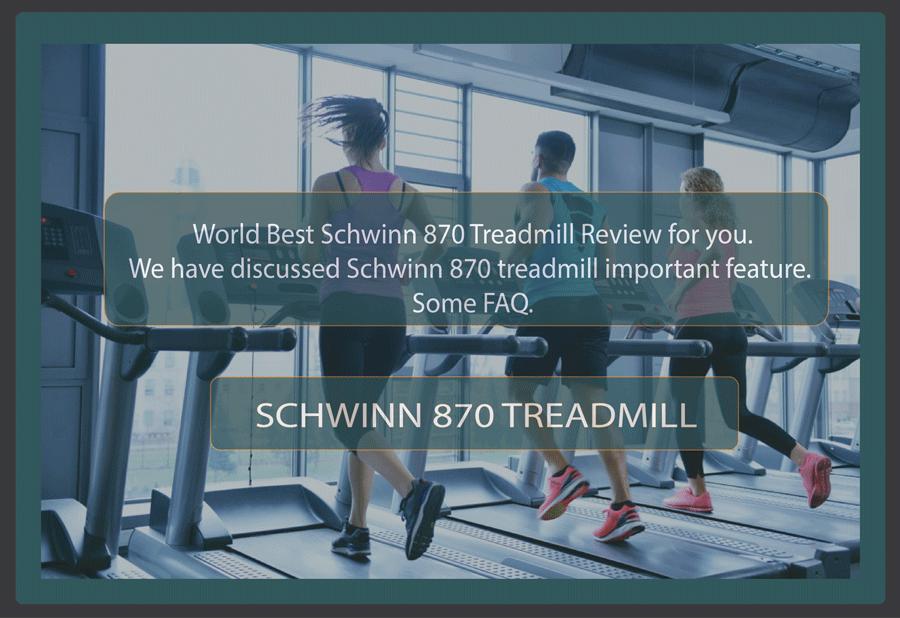 schwinn870 treadmill